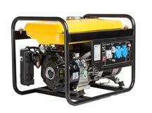 Electric AC generator alternator, isolated on white. Portable gasoline generator. isolated white background Stock Image