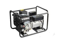 Electric AC generator isolated on white Stock Image