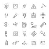 Electric accessories icons Stock Images