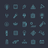 Electric accessories icons Stock Image