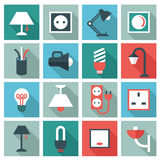 Electric accessories icons Royalty Free Stock Images