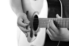 Electric Acoustic Guitarist Stock Image