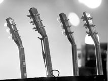 Electric and acoustic guitars set Royalty Free Stock Photo