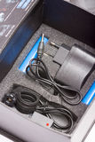 Electric adapter charger box Stock Image