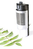 Electric air humidifier with leaf Stock Photo
