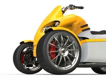 Electric all terrrain vehicle - front wheel closeup shot Stock Photography