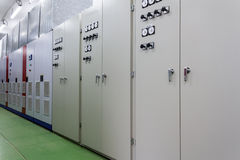 Electric amperage control room. Clean electric amperage control room Stock Image