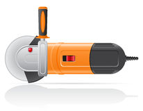 Electric angle grinder vector illustration Stock Image