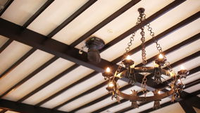 Electric antique chandelier stock video footage