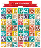 Electric appliance icons,Colorful icons. White background version vector illustration