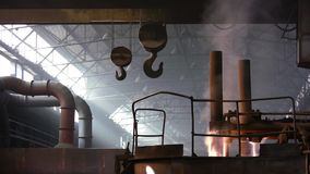Electric arc furnace stock video footage