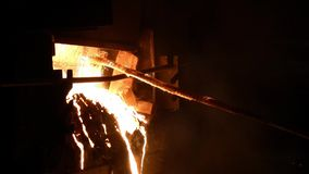 Electric arc furnace stock video