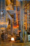 Electric arc furnace. Photograph shows the melting of steel electrically on modern technology Royalty Free Stock Photography