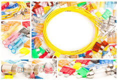 Electric auto parts set. Electric auto parts background set Royalty Free Stock Photography