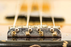 Electric bass bridge Stock Photography