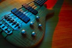 Electric bass guitar. Crosslight blue amd yellow Royalty Free Stock Image