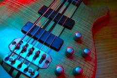 Electric bass guitar. Crosslight blue amd yellow Stock Images