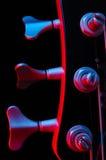 Electric bass guitar. Crosslight blue amd yellow Stock Photo