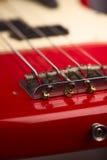Electric bass guitar bridge Royalty Free Stock Images