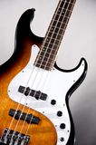 Electric Bass Guitar Isolated On White Stock Photography