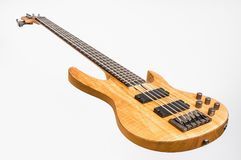 Electric bass guitar isolated on white Stock Photo
