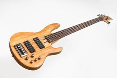 Electric bass guitar isolated on white Stock Image