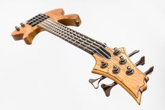 Electric bass guitar isolated on white Royalty Free Stock Photography