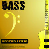 Electric bass guitar vector illustrations Royalty Free Stock Images