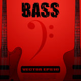 Electric bass guitar vector illustrations Royalty Free Stock Photo