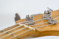 Electric bass head Royalty Free Stock Images