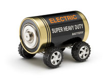 Electric Battery Car. A battery made to look like an electric vehicle royalty free stock photography