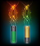 Electric battery energy Royalty Free Stock Photo
