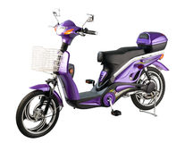 Electric bicycle. The new design of electric bicycle stock photo