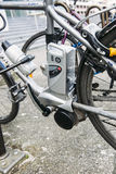 Electric bicycle - e-bike motor detail Royalty Free Stock Photography
