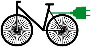 Electric bicycle stock image