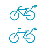 Electric bicycle icons. Vector illustration of Simple Electric bicycle icon Stock Photo