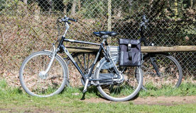 Electric bicycle, modern bike mostly used by seniors Stock Photos