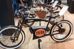 Electric bike at EICMA 2013 in Milan, Italy Stock Photos