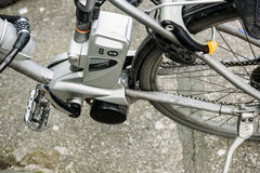 Electric bike motor detail Royalty Free Stock Photos