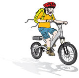 Electric bike ride Stock Image