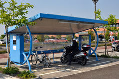Electric Bike Sharing Stock Photo