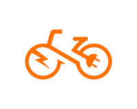Electric bike Template vector Stock Image