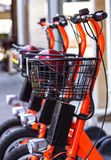 Electric Bicycles for Rent Royalty Free Stock Image