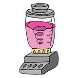 Electric blender cartoon Royalty Free Stock Photo