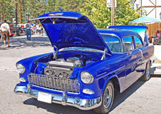 Electric Blue Chevrolet Royalty Free Stock Images