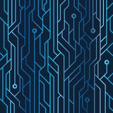 Electric Blue Circuit Line Art illustration background. Image for graphic art or digital art Stock Image