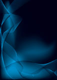 Electric blue flow stroke Stock Images
