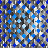 Electric blue grid texture Stock Images