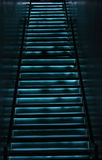 Electric blue stairwell Royalty Free Stock Image