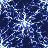 Electric blue vector lightning seamless pattern Stock Image